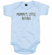 REFEREE BODY SUIT PERSONALISED MUMMY'S LITTLE BABY GROW NEWBORN GIFT