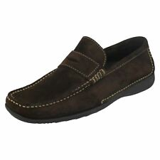 Mens Loake Suede Leather Slip On Loafer Style Shoes - Cortina