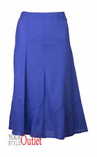 NUOVO DA DONNA EX BON MARCHE BLU INSERTO GONNA DI LINO SIZES 12 - 22