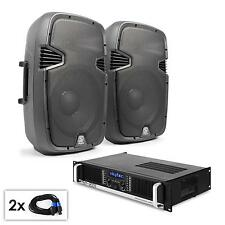 COPPIA ALTOPARLANTI SUBWOOFER AMPLIFICATORE BLUETOOTH USB SD 2x 200W RMS + 1000W
