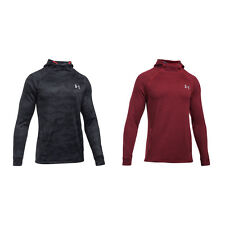 Under Armour Tech Terry Frotteehoodie Hoody Kapuzenpullover schwarz rot 1295919
