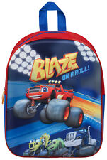 Boys Blaze And The Monster Machines Backpack Kids School Lunch Book Bag Rucksack