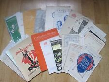 Large Selection of Theatre Programmes from the 1930's