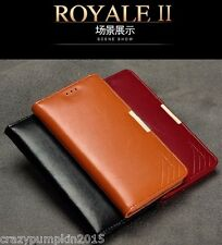 For Samsung Galaxy Note 4 KLD Royale II Original Leather Case Flip Cover Wallet
