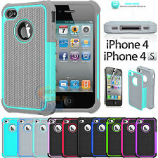 Shock proof Rubber Matte Hard Case Cover For Apple iPhone 4 4S Screen
