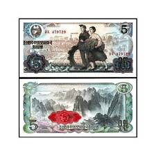 BANCONOTA KOREA NORTH 5 won 1978  FDS UNC