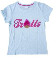 Mujer Good Luck Trolls cabello real Camiseta Azul RU Tallas Grandes 6 to 20