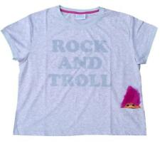 Camiseta Para Dama Good Luck Trolls ROCK Top Gris GB Plus tamaños 6 to 20