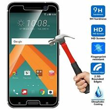 CLEAR GEL CASE + TEMPERED GLASS SCREEN PROTECTOR FOR HTC 10
