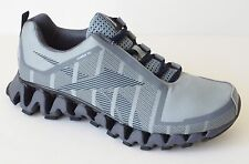 Reebok Mens Zig Wild TR2 Run Running Shoes Sneakers Gray Navy Black Grey BS