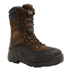 Rocky Mens Brown Leather BlizzardStalker Pro Insulated 9in Snow Boots