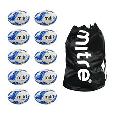 NEW Ball Sack of 10 Mitre Sabre Rugby Training Balls - Cheap Ball Size 3,4,5