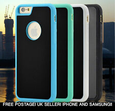 ANTI GRAVITY STICKY SUCTION PHONE CASE FOR IPHONE/SAMSUNG VARIOUS COLOURS!! UK
