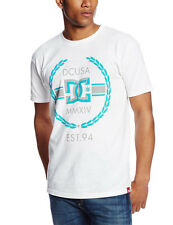 DC Shoes Men's Rob Dyrdek Wreath Bevel SS T Shirt White  cool brand new