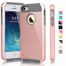 PC Shockproof Hybrid Rubber Hard Protective Cover Case For Apple iPhone 5 5