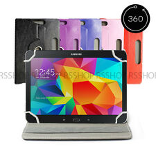 "10"" Android Tablet Folio Leather Flip Case Cover Universal 360 Rotating"