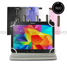 "8"" Android Tablet Folio Leather Flip Case Cover Universal 360 Rotating"