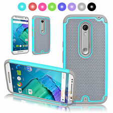 For Motorola Moto X Style Pure Edition Rugged Rubber Hard Protective Case C