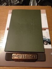 2016 Jeep 75-Years History 5-page Poster + Brochure + emblem band