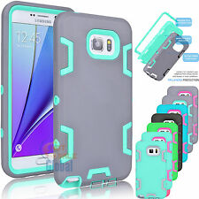 Hybrid Rubber ShockProof Protective Hard Case Cover For Samsung Galaxy Note