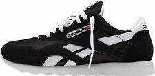 MENS REEBOK 6604 CLASSIC NYLON BLACK WHITE BRAND NEW WALKING SNEAKERS ALL S