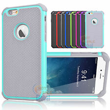 For iPhone 6 6s Plus Shockproof Rugged Rubber Matte Impact Protective Case