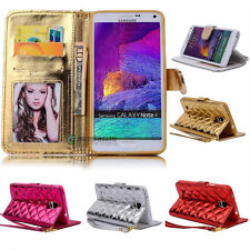 Leather Magnetic Flip Credit Card Wallet Case Cover For Samsung Galaxy Note