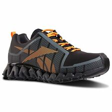 Reebok Mens Zig Wild TR2 Run Running Shoes Sneakers Gray Black Firespark Or