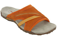 Merrell Sandals Toe Post Terran Slide Leather Elastic Halter Strap Summer Womens