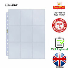 Ultra Pro 9-Pocket Pages A4 Platinum Trading Card Protection Pokemon MTG - Clear