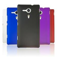 Coque Rigide Sony Xperia SP - gommée  + films de protection