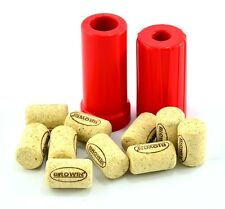 Brand New Hand Corkers+10 corks For Fitting Straight Corks To Wine Bottles
