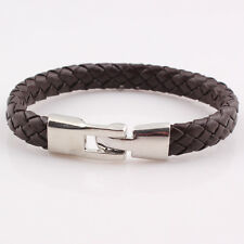 Vintage Boys' Men's, Girls', Women's Woven Leather Cuff Bangle Bracelet.