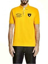Lamborghini Men's Polo Shirt Huracan Orange Official Merchandise
