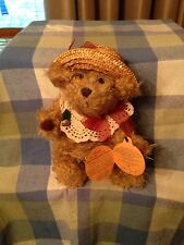 Rosie Brass Button Bear New With Tags