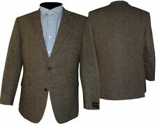Scott Fulvo marrone donegal tweed lana Giacca sportiva, Size 44 to 60 S/ R/ L