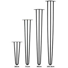 HARTLEYS SET OF 4 3 ROD INDUSTRIAL HAIRPIN DINING/COFFEE TABLE LEGS STOOL/DESK
