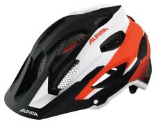 Alpina Carapax Fahrradhelm - black-white neon-red