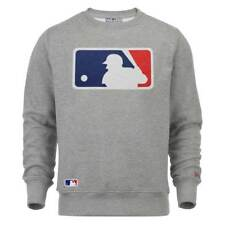 New Era Major League Baseball Logo Crewneck MLB Sweatshirt Grau