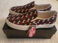 NEW IN BOX WOMENS VANS BY J-CREW CLASSIC SLIP ON ASTRO PRINT SKATE SHOES