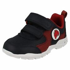Infant Toddler Clarks Boys Hook & Loop Flashing Lights First Trainers Brite Max