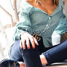 ZARA STRIPED WIDE NECK SHIRT WITH PUFFY SLEEVES SIZE S_M - BLOGGERS