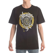 Crooks and Castles Men's Knit Crew Maisonic SS T Shirt Black   skate streetwear