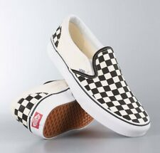 VANS CLASSIC SLIP ON BLACK & WHITE CHECKERBOARD TRAINERS