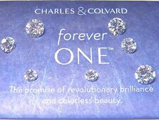 Forever One Moissanite  Round 1/2 to 3 ct Jewels Charles Colvard Colorless DEF