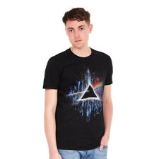 Pink Floyd - Dark Side Of The Moon Blue Splatter T-Shirt Black