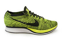 Mens Nike Flyknit Racer *RARE* - 526628 731 - Volt Black Sequoia Trainers