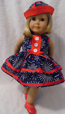 Doll Clothes fits 18 inch American Girl etc 3pc Lot DRESS/SHOES & SAILOR HAT