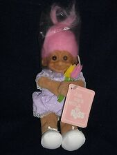 NEW w/ TAGS vintage RUSS TROLL pink hair in wrapper MOTHERS DAY STUFFED doll