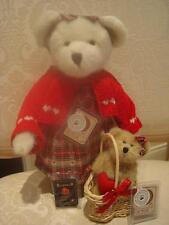 BOYDS QVC EXCLUSIVE VALENTINE BEAR SET WITH HEART BASKET **NEW WITH TAGS** CUTE